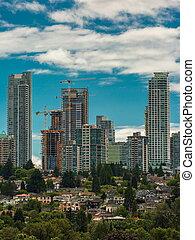 construction, ville bâtiments, haut-ascension