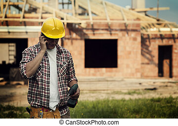 Construction with mobile phone