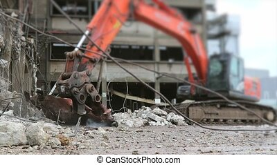 Construction with selective focus - Excavator Wtih Hydraulic...