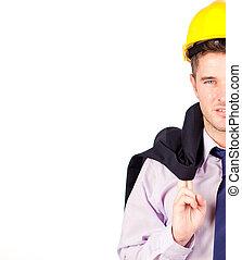 construction woker smiling