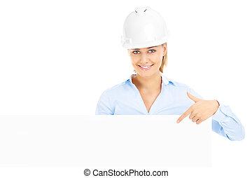 Construction woman
