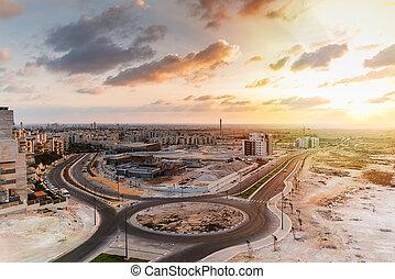 construction work in the desert