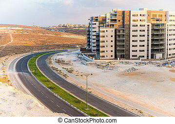new building and a road