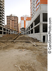 Construction work site - Construction site with great ...