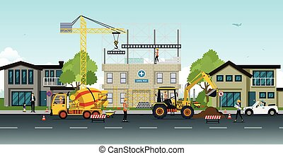 construction work - Construction and home renovation with...