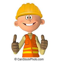 Construction worker 3d
