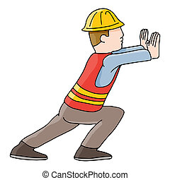 Construction Worker - An image of a construction worker.