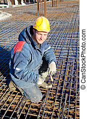 Construction worker at job