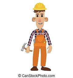 Construction worker cartoon - Construction worker in cartoon...