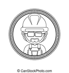 Construction worker cartoon