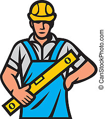 construction worker (construction man, builder man)