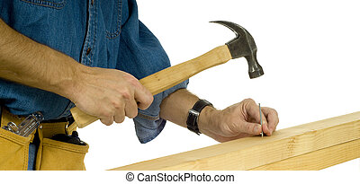 Construction worker Driving Nail