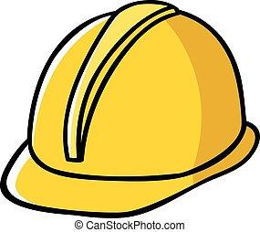 Doodle illustration of a construction worker hard hat