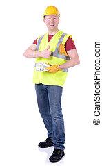 Construction worker money