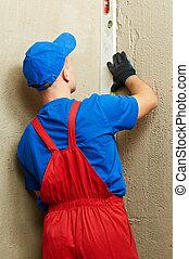 construction worker plasterer