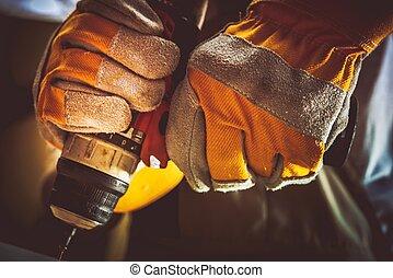 Construction Worker Screw Gun