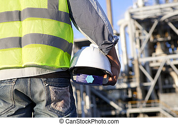 construction worker on location site