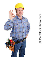 Construction Worker Success - Authentic construction worker...