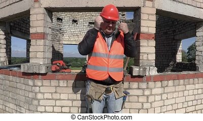 Construction worker suffer from cold
