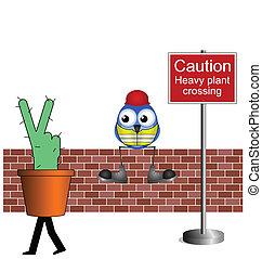 heavy plant crossing