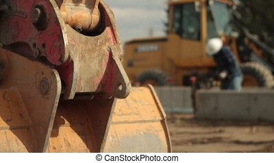 construction worker with tamper