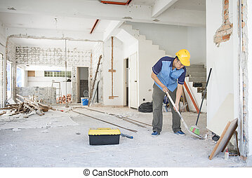 Construction worker working at site