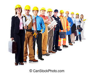 Construction workers group.