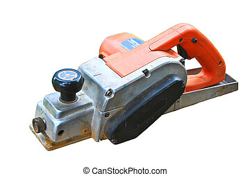 power tool on white background - construction worker's power...