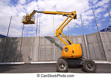 Construction workers - Hydraulic mobile construction...