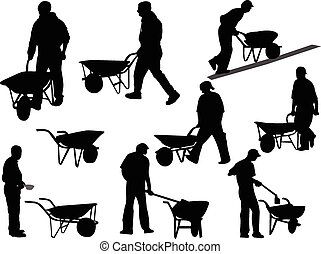 construction workers - vector