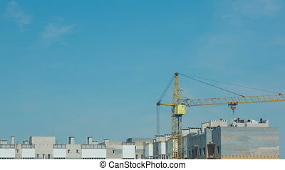 Construction works - View of construction site. Time lapse.