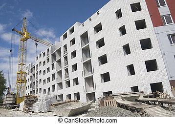 construction yard with crane