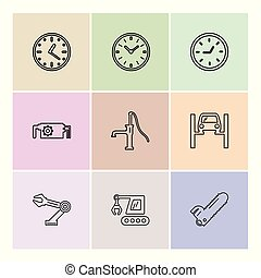 constructions, кран, увидел, handpump, смотреть, время,...