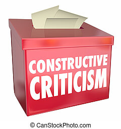 Constructive Criticism Suggestion Box Helpful Feedback 3d Illustration