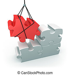 Constructive Solutions - 3d puzzle piece being put into ...