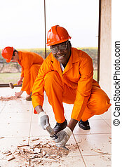 constructor, africano, renovaciones, edificio