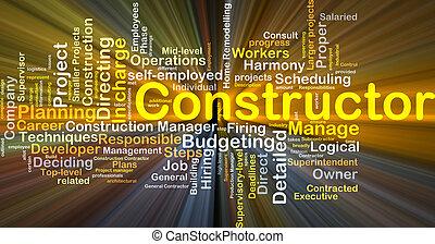 constructor, baggrund, begreb, glødende