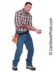 constructor, dolor, brazo