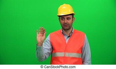 Constructor Engineer Explain Reporter Look Sideways...
