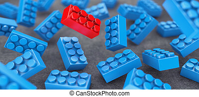 Constructor - Many blue constructor chaotically flying in...