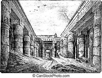 construido, templo, karnak, iii., cortocircuito, ramses,...