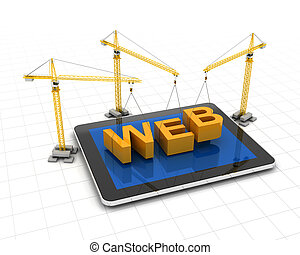 construir, site web