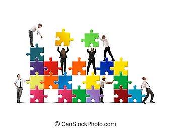construir, um, novo, companhia
