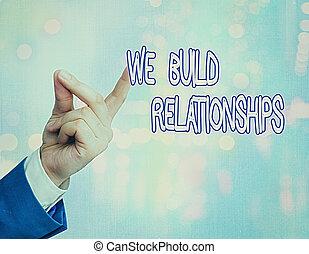 construire, relationships., écriture, reussite, concept, nous, texte, teamwork., business, développer, croissance, signification, processus