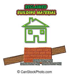 construisant matériel, reclaim