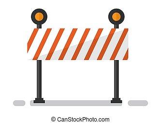 construisant matériel, site, barrière, vecteur