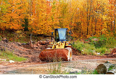 constrution equipment - front end loader at construction...