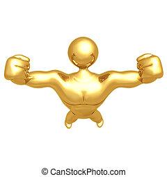 construtor corpo, homem forte