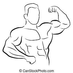 construtor corpo, símbolo