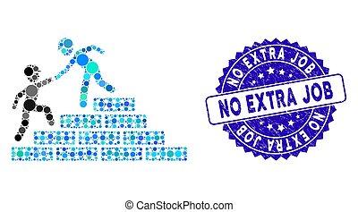 construtor, grunge, ícone, não, escadas, selo, ajuda, colagem, trabalho, extra